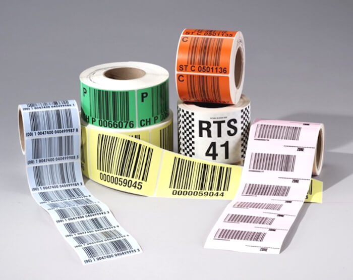 samples of preprinted warehouse LPN barcode labels