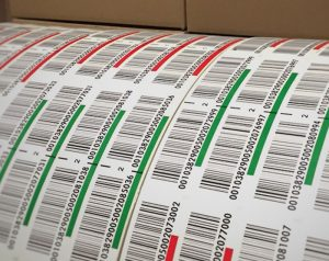 multicolor warehouse LPN barcode labels