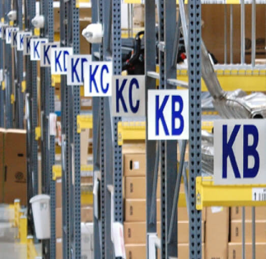 warehouse aisle signs