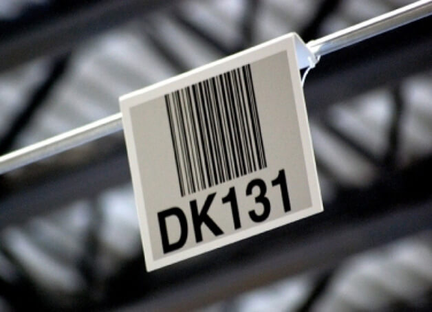 warehouse barcode sign