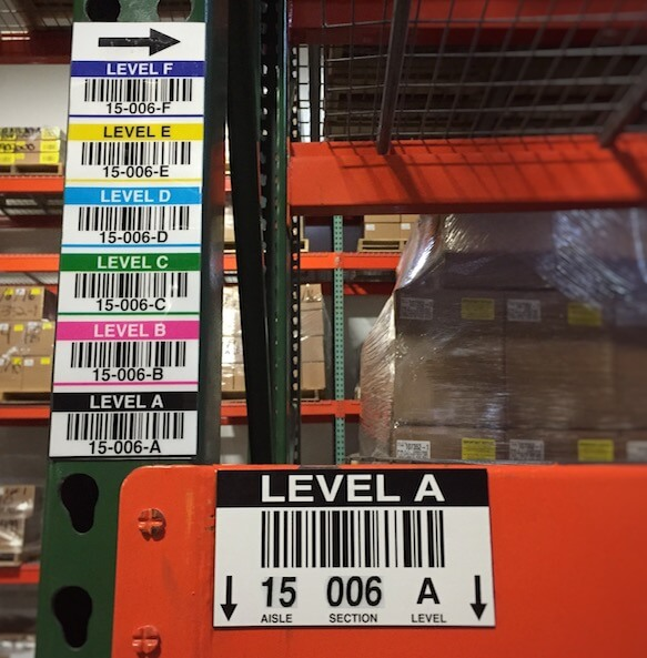 magnetic warehouse rack location labels