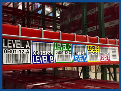 warehouse rack label
