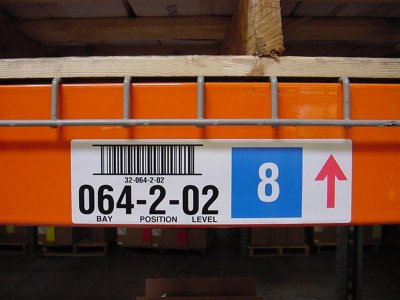 warehouse rack location label