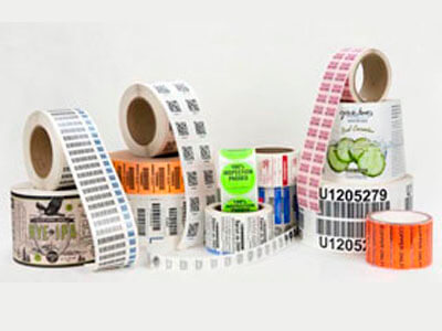 assorted apparel barcode labels and tags