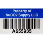 Asset Label example – property of your company