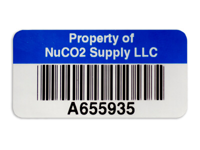 asset property tag blue