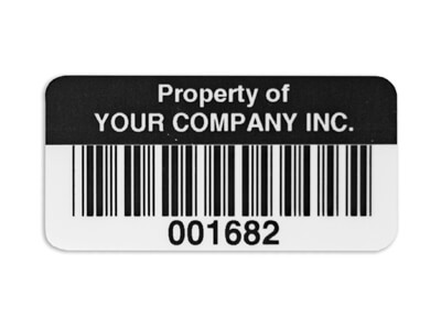Asset Label example - property of your company