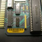 PCB circuit board with barcode label