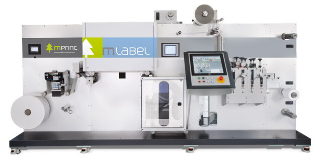 Digital inkjet label printing press