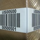 Corner-wrap warehouse pallet label