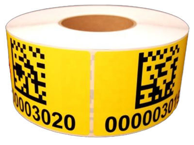 yellow warehouse LPN labels