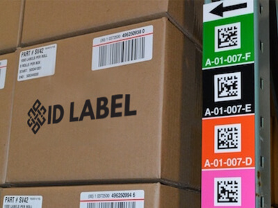 2D totem warehouse upright label