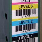 BullsEye ultra-durable vertical warehouse labels