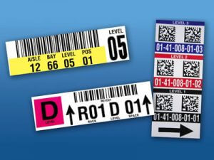 warehouse rack location labels
