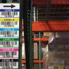 Magnet warehouse rack label with companion label