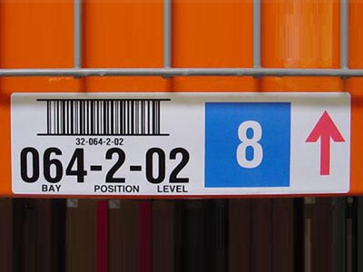 warehouse rack location label