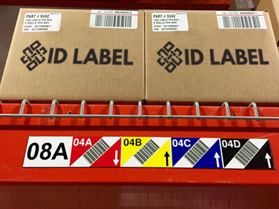 magnetic warehouse rack label