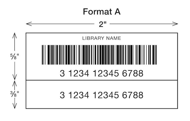 sample library barcode label formats