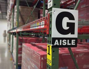 warehouse aisle location marker