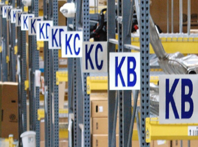 aluminum warehouse aisle signs