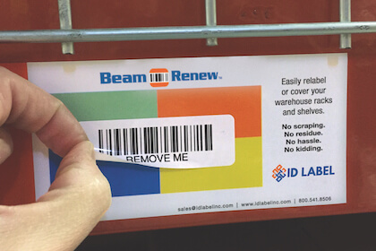 Beam Renew warehouse label cover-up solution