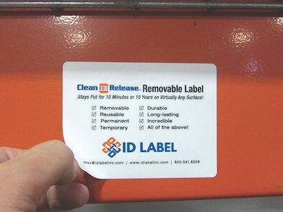 Clean Release removable warehouse label