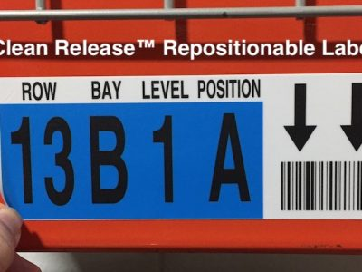 removable warehouse label