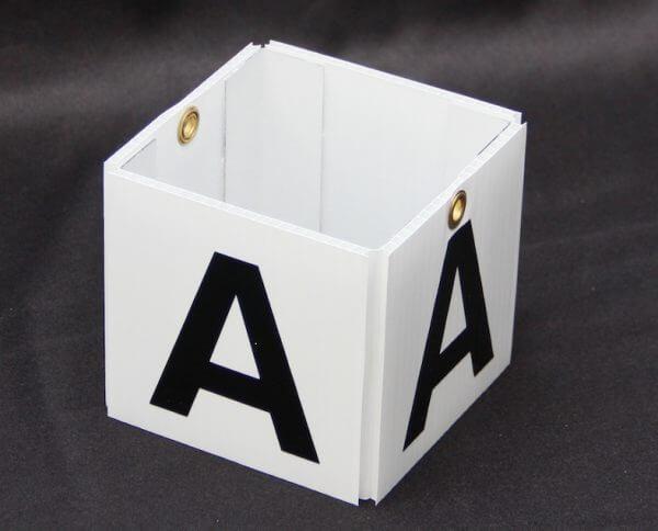 Cube style warehouse zone marker