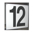 Dock door number sign
