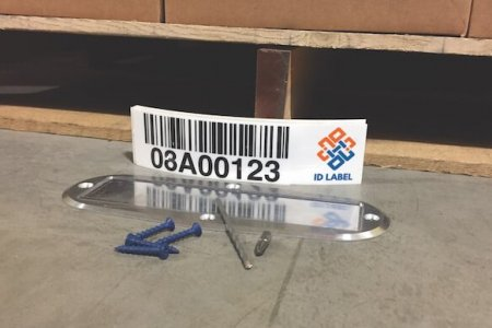 Warehouse label floor plate kit with aluminum protective cover