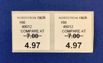apparel price labels and stickers