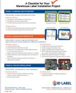 warehouse label installation checklist