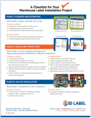 warehouse label installation checklist