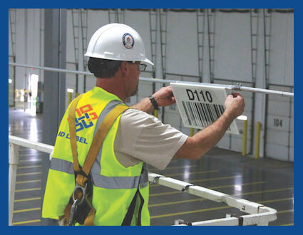 warehouse sign installation id label