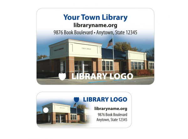 library patron card sample building