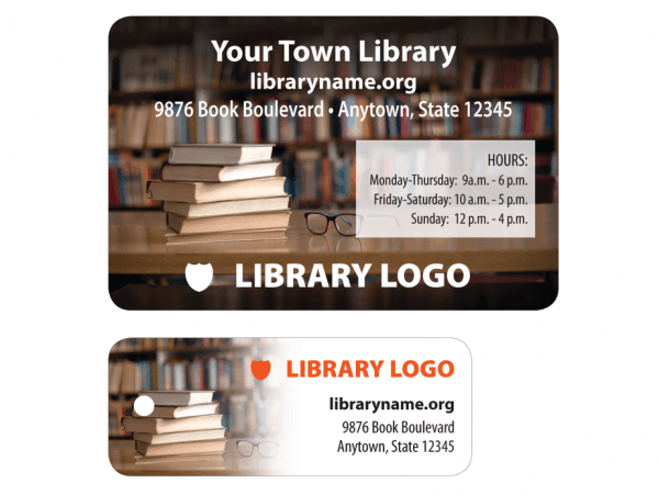 library patron card sample template