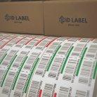 Warehouse pallet LPN labels on rolls