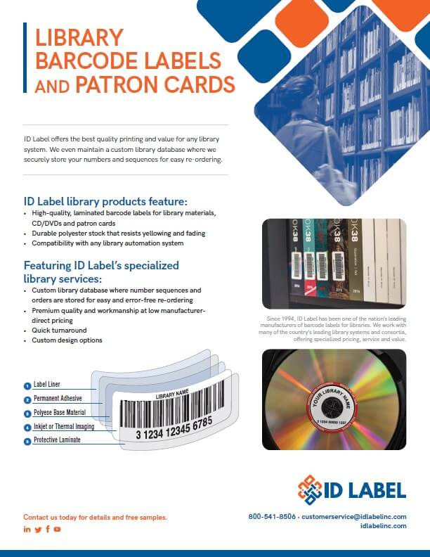Library Barcode Labels & Patron Cards   ID Label Inc