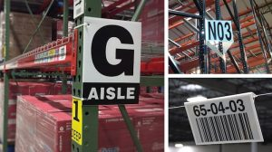 warehouse sign samples