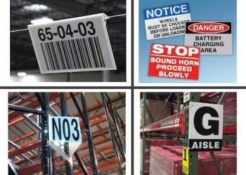 Examples of various warehouse signs