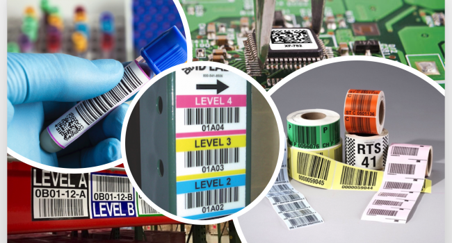 Multiple warehouse products with barcode labels
