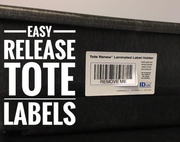tote renew warehouse label