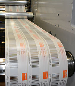 warehouse labels being printed