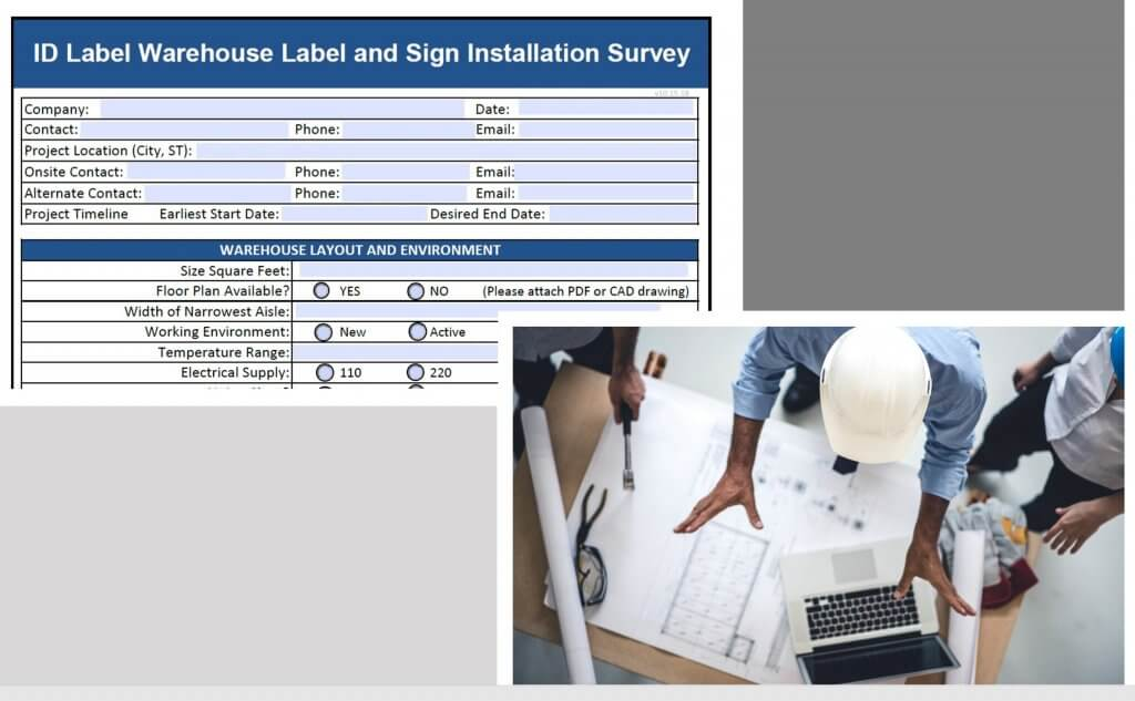 Warehouse installation survey and people meeting