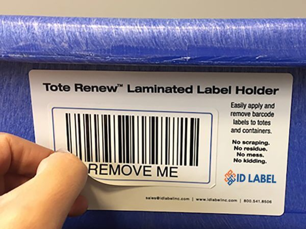 removable warehouse tote label