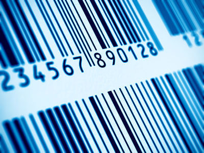 close up of barcode image