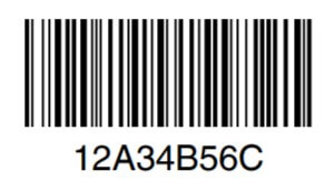 code 128A barcode image