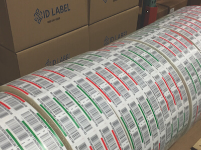 Preprinted pallet labels on rolls