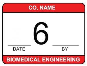 biomedical engineering calibration label