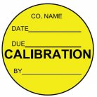 yellow circular calibration label